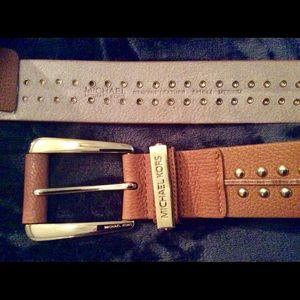 NWOT MICHAEL KORS leather belt